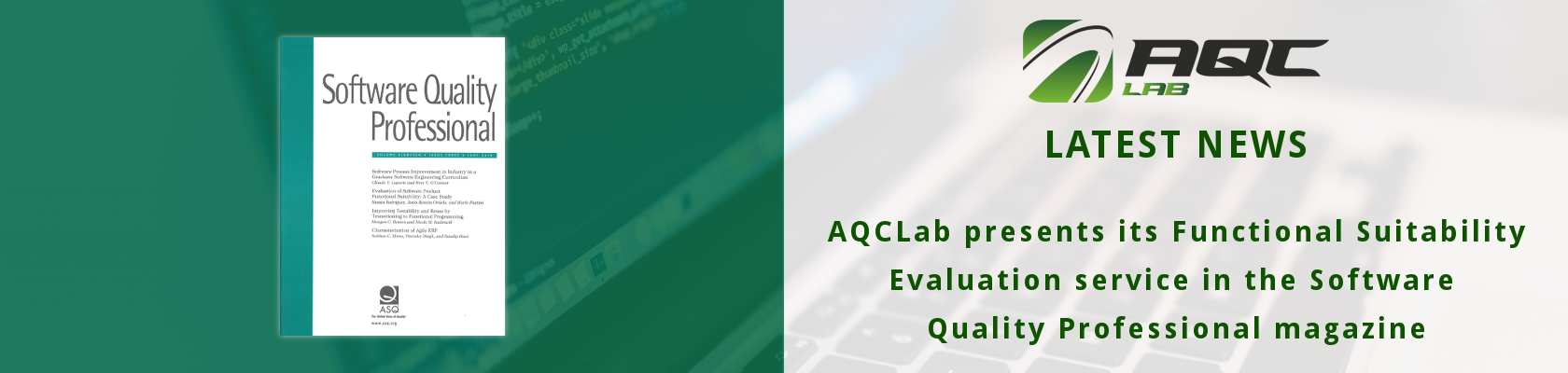 [JUNE 2016] AQCLab presents the Functional Suitability evaluation in the Software Quality Professional magazine